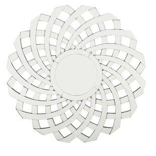 Orren Ellis Rusowicz-Orazem Glam Flower Accent Mirror