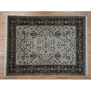 Online Reviews One-of-a-Kind Beason 300 Kpsi Oriental Hand-Knotted 9' x 12' Wool Black/Gray Area Rug By Isabelline