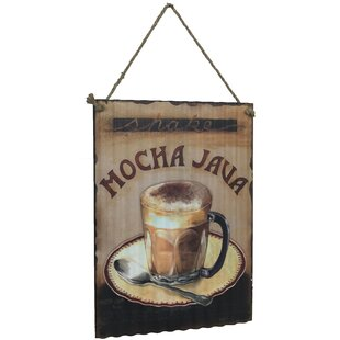 Mocha Java And A Coffee Cup Graphic Art On Metal
