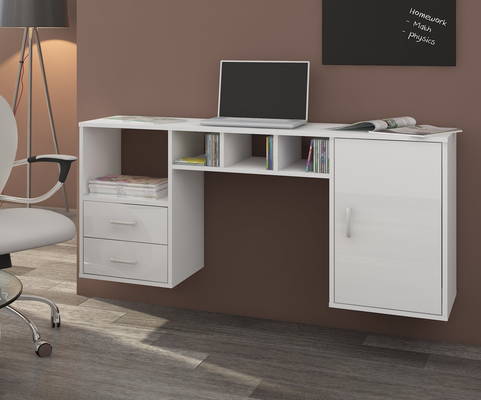 garrisons wall mounted floating desk