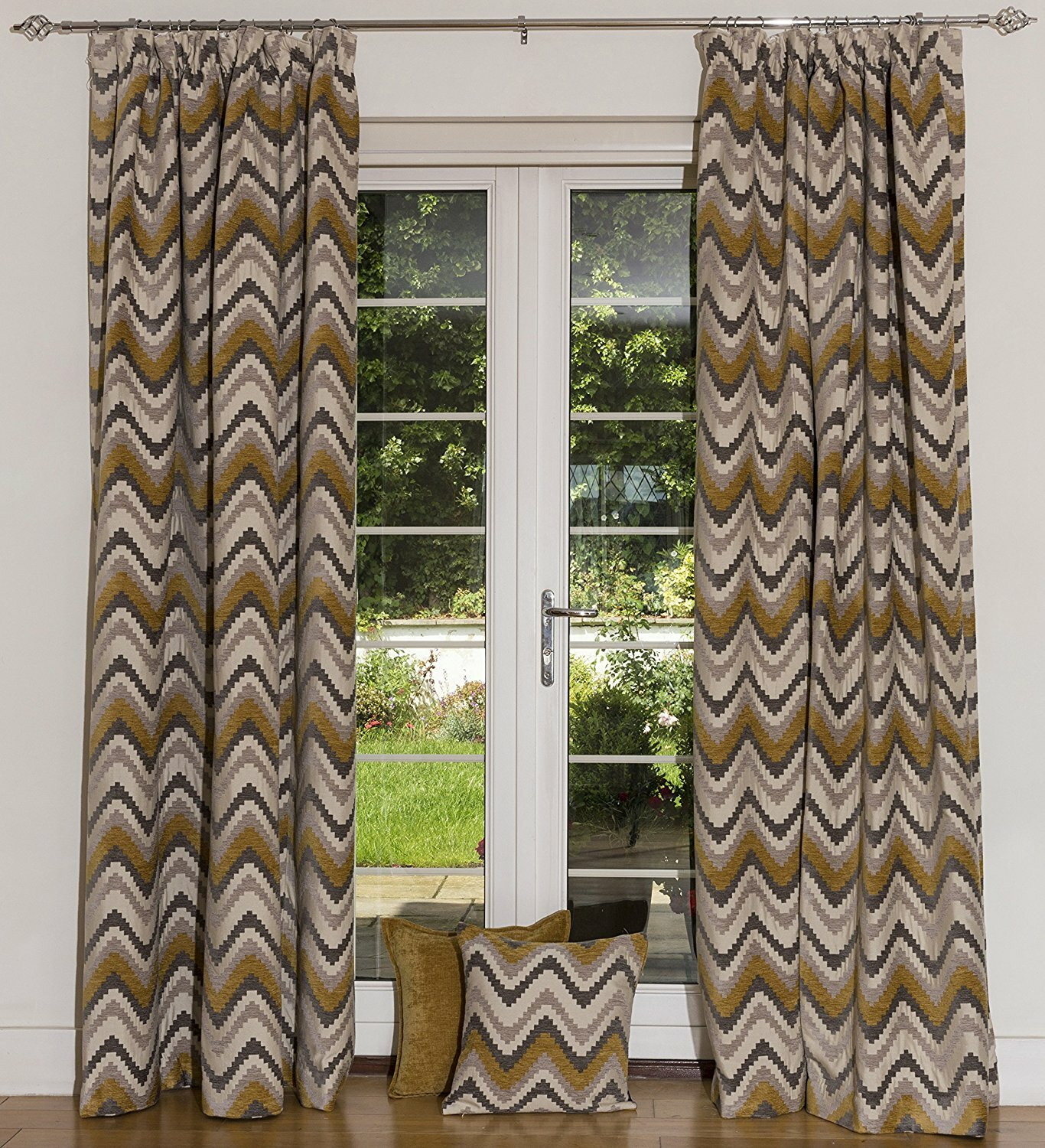 pair blackout eyelet top tiebacks ready striped ring thermal lined made curtains product