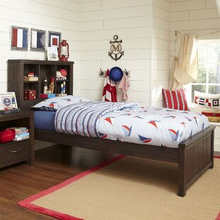 Greyleigh Timberville Panel Bed with Bookcase