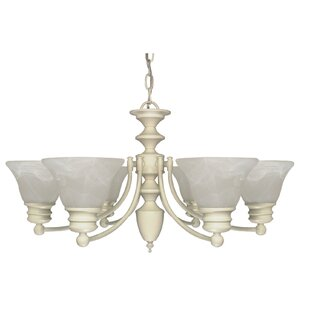 Charlton Home Poneto 6-Light Shaded Chandelier