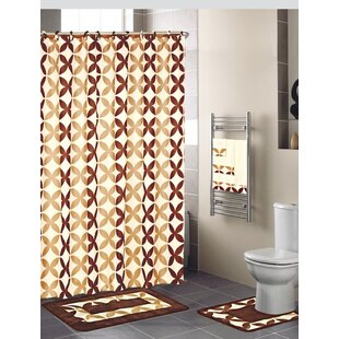 18 Piece Shower Curtain Set By Daniels Bath