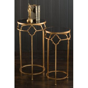 Affordable Kaylene Iron and Stone Nesting Tables (Set of 2) By House of Hampton