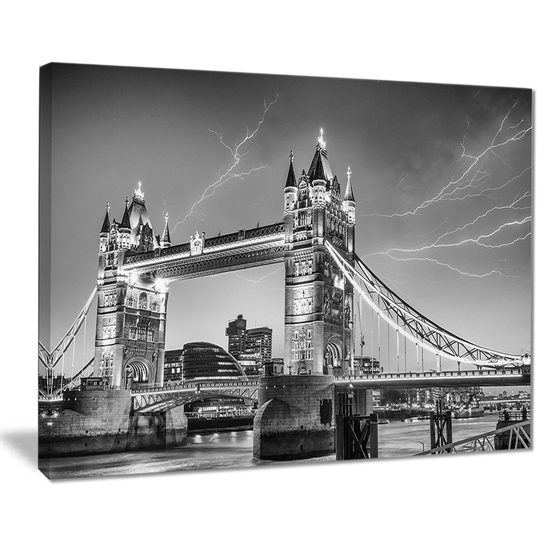 East Urban Home Majesty Of Tower Bridge London Photographic Print On Canvas Wayfair