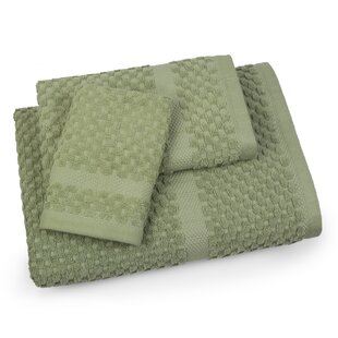 Mitt Honeycomb 3 Piece 100% Cotton Towel Set