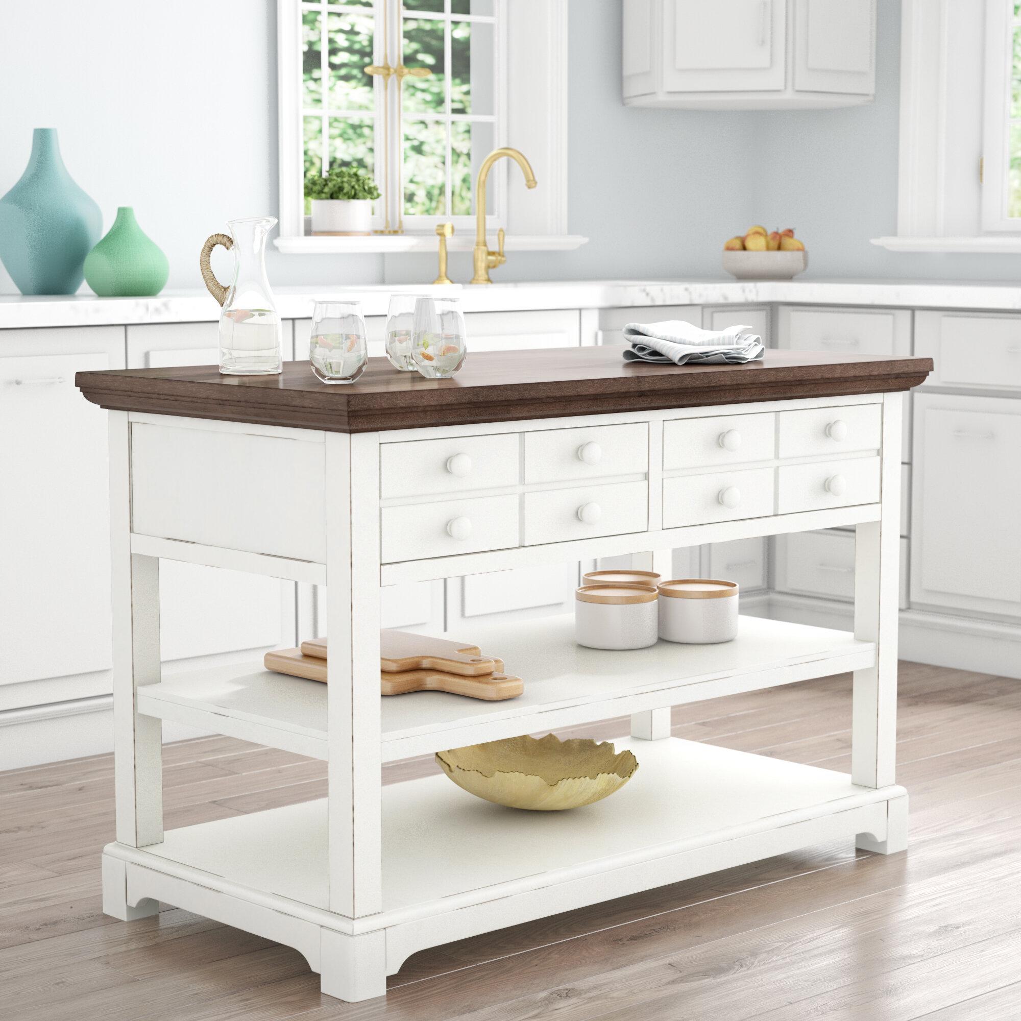 Rosecliff Heights Galliano Kitchen Island & Reviews | Wayfair