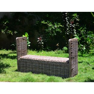 Gracie Oaks Orava Wicker Storage Bench