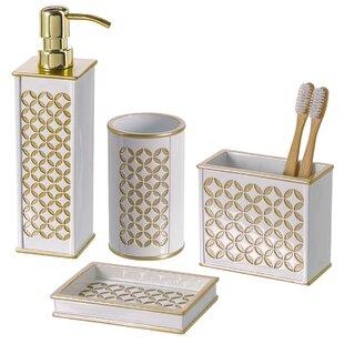 Reviews Diamond Lattice 4-Piece Bathroom Accessory Set ByCreative Scents