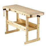 "Nordic Plus 1450 57""W Wood Top Workbench"