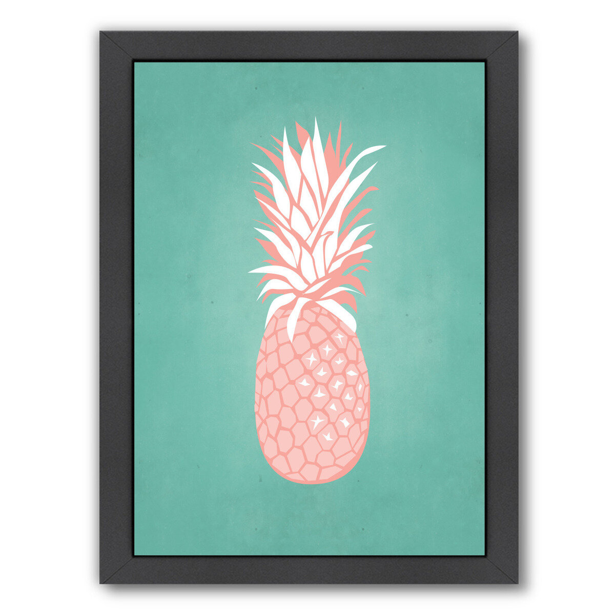 Bay Isle Home Palm Sprints Pineapple Framed Graphic Art Wayfair