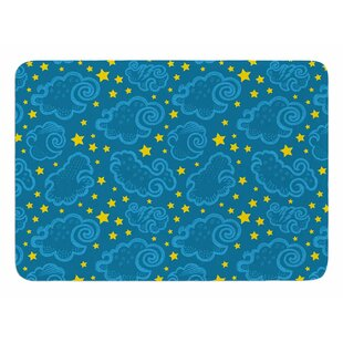 Starry And Cloudy Night By Yenty Jap Bath Mat by East Urban Home