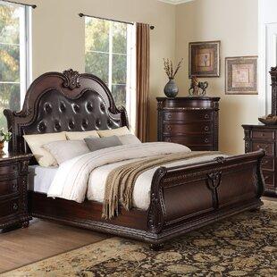 Astoria Grand Caitlyn Upholstered Sleigh Bed
