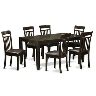 Lynfield 7 Piece Extendable Dining Set by East West Furniture Coupon