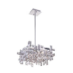 Compare prices Arley 6-Light LED Crystal Chandelier By CWI Lighting