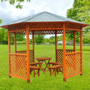 Leisure Season 12.5 Ft. W x 12.5 Ft. D Solid Wood Patio Gazebo