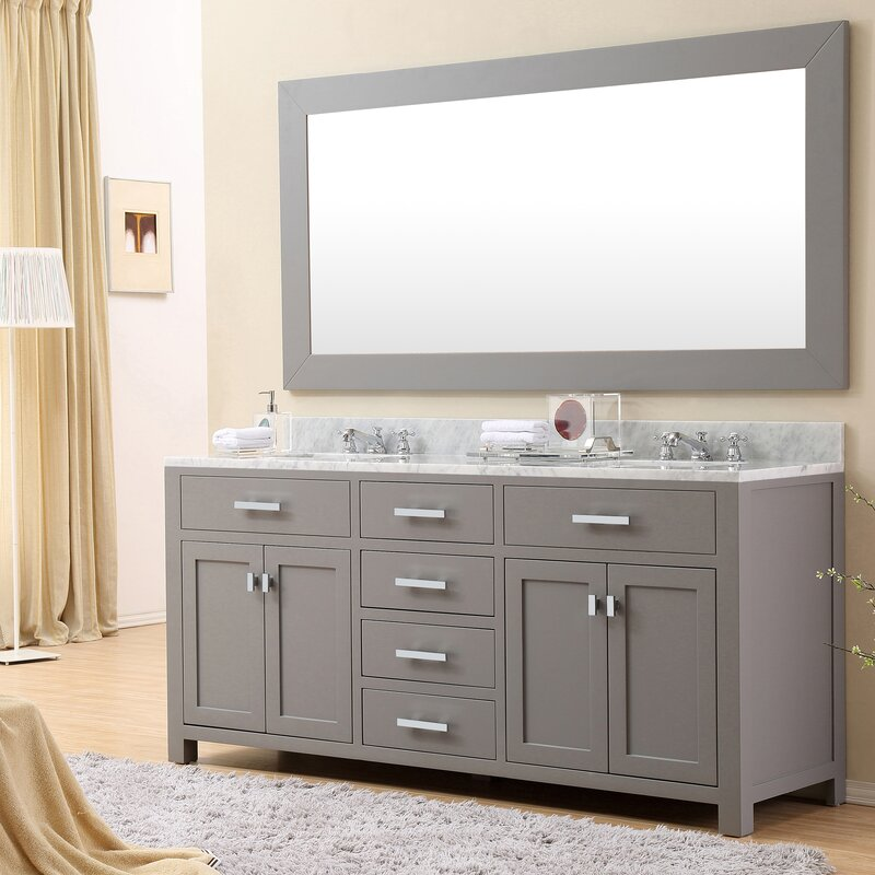 "darby home co fran 72"" double sink bathroom vanity set & reviews"
