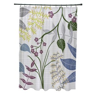 Orchard Lane Polyester Botanical Floral Shower Curtain By Alcott Hill