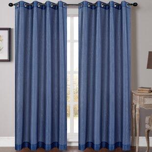 Soho Solid Sheer Grommet Curtain Panels (Set Of 2)