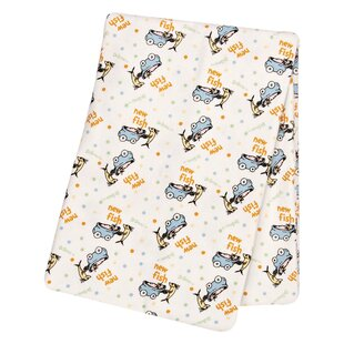 Best Reviews Dr. Seuss One Fish, Two Fish Flannel Swaddle Blanket By Trend Lab