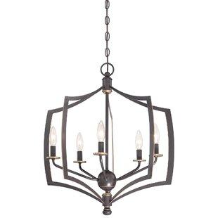 Alcott Hill Stotts 5-Light Geometric Chandelier