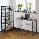 Bookcase Gray Wood Writing Desks You Ll Love In 2021 Wayfair