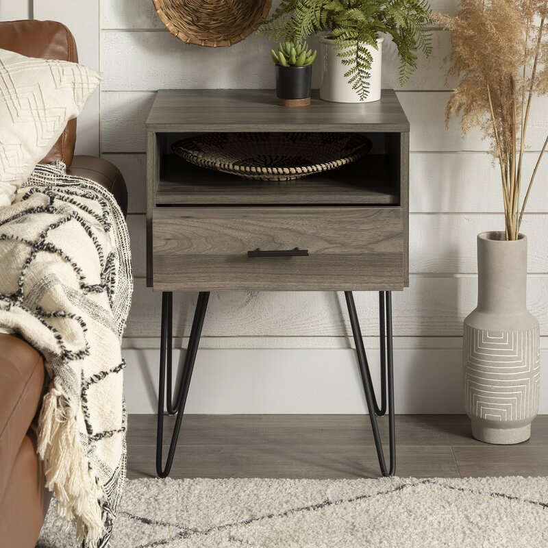Union Rustic 1 Drawer End Table With Storage Reviews Wayfair