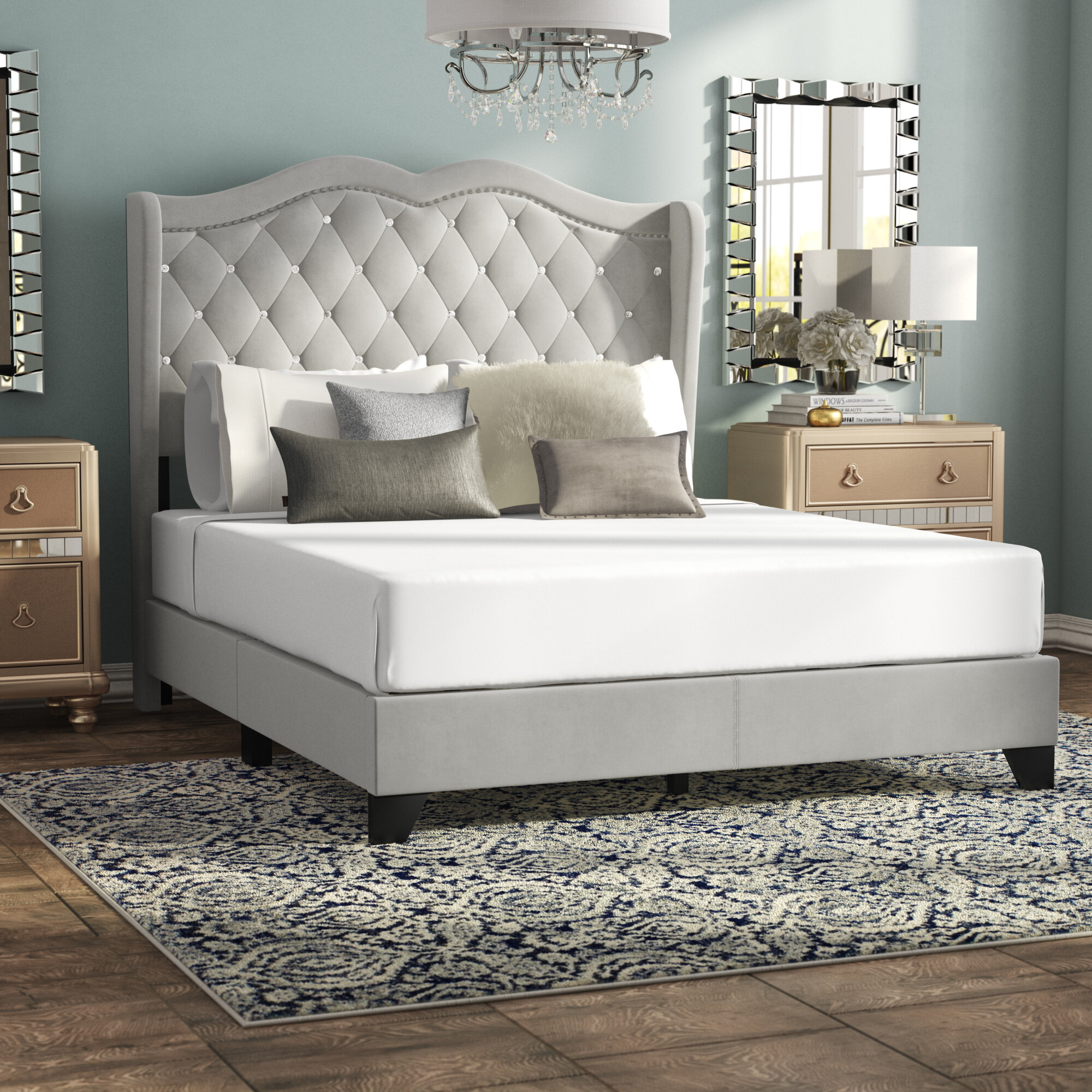 Queen Size Upholstered Beds Up To 60 Off This Labor Day Wayfair