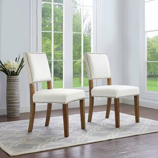 Comparison Trever Upholstered Dining Chair (Set of 2) by Gracie Oaks Reviews (2019) & Buyer's Guide