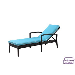 Rattan Outdoor Furniture Brighton Chaise Lounge with Cushion