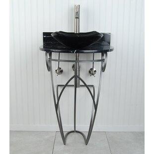 Look for Victoria Fong Metal 22 Pedestal Bathroom Sink By D'Vontz
