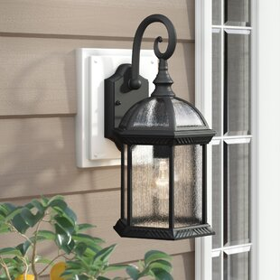 Springboro Divine 1-Light Outdoor Wall Lantern by Three Posts