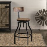 Joplin Adjustable Height Bar Stool by Williston Forge