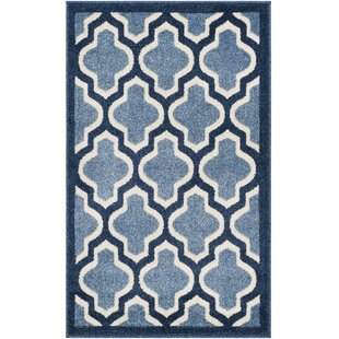 Compare Maritza Power Loomed Light Blue/Navy/White Indoor/Outdoor Area Rug By Willa Arlo Interiors