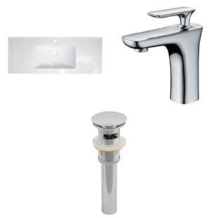 Alum Ceramic 48 Single Bathroom Vanity Top and Faucet by Royal Purple Bath Kitchen
