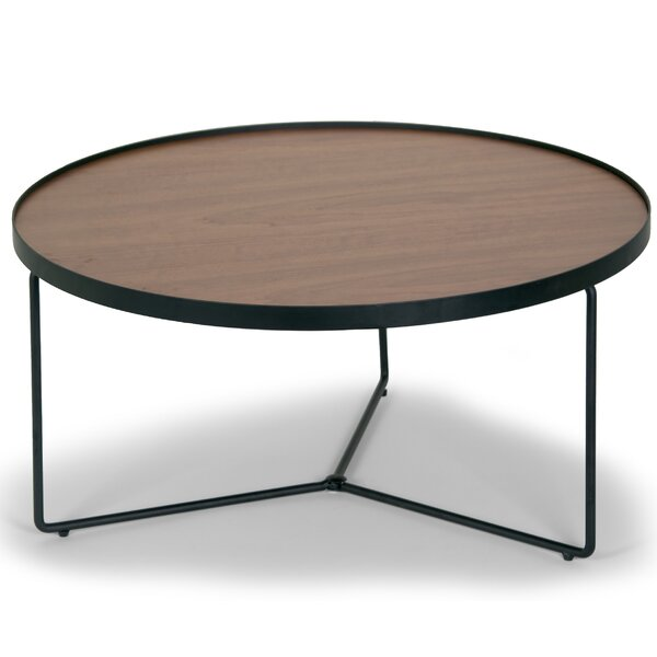 Glamour Home Decor Ailsa Rimmed Round Wooden Coffee Table U0026 Reviews    Wayfair