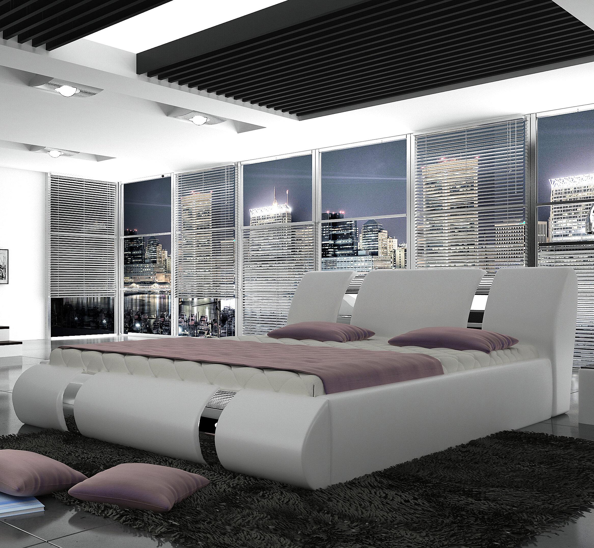 Orren Ellis Duke European Kingsize Storage Platform Bed With