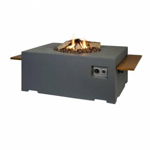 Rectangular/Square Add-On Fire Pit Shelf By Symple Stuff