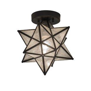 Moravian Star 1-Light Semi-Flush Mount by Meyda Tiffany