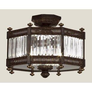 Fine Art Lamps Eaton Place 3-Light Semi Flush Mount