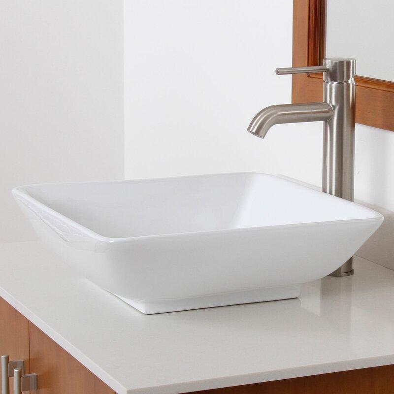 Superieur Ceramic Square Vessel Bathroom Sink