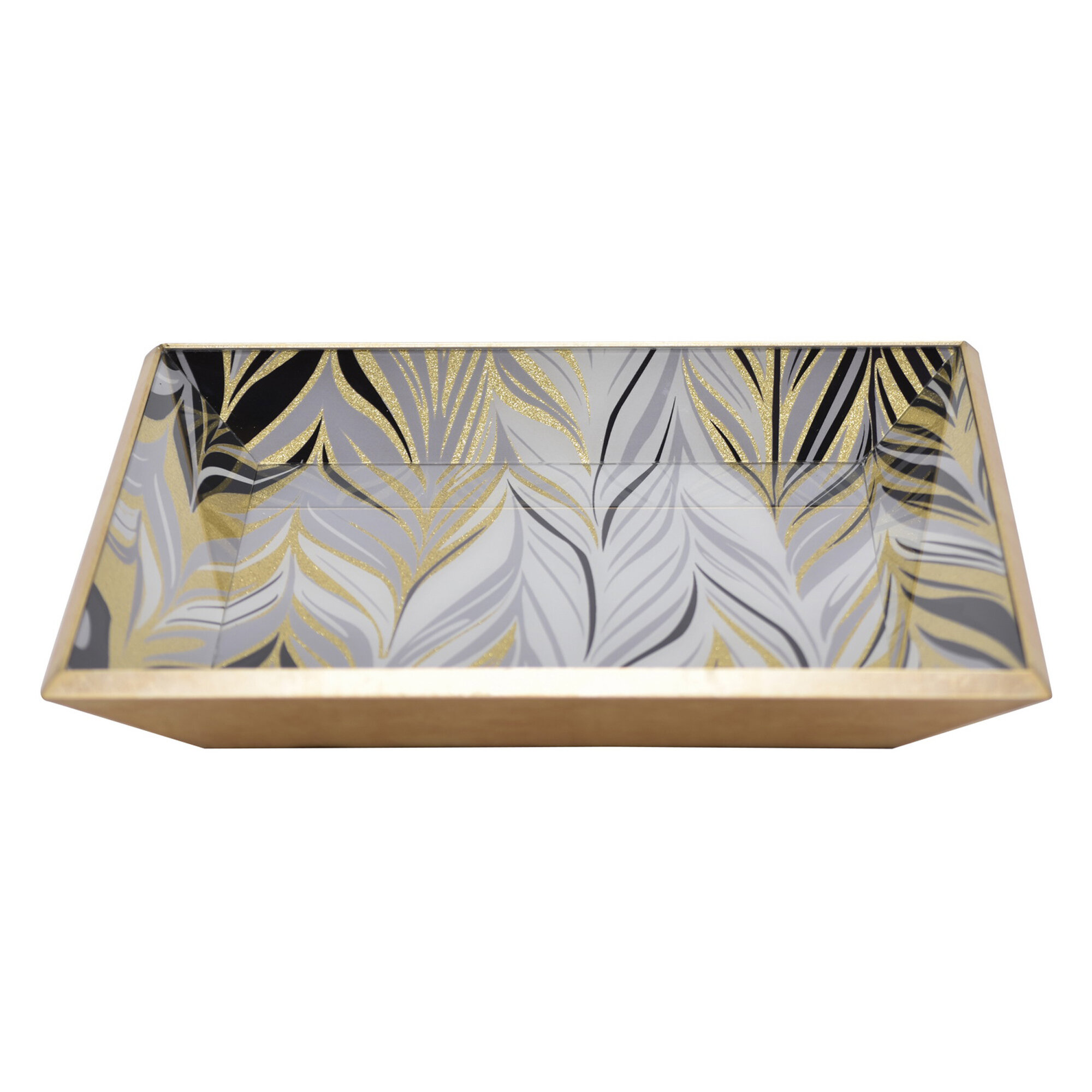 Mercer41 Meyer Glass Ottoman Coffee Table Tray Wayfair