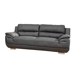 Renata Genuine Leather 3 Seater Sofa By Ebern Designs