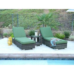 Latitude Run Denika Oversize Double Sun Lounger Set Group with Cushion