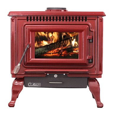 Direct Vent Wood Burning Stove Ashley Hearth Finish: Gloss Red
