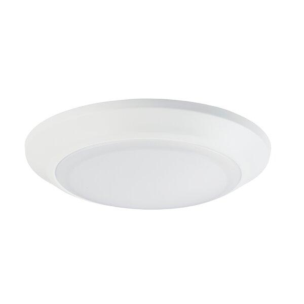 Ebern Designs Lospalmos 1 Light Simple Circle Led Flush Mount Reviews Wayfair