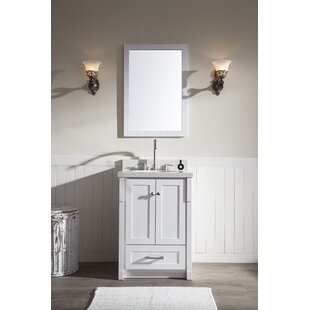 Adams 25 Single Sink Vanity Set with Mirror by Ariel Bath