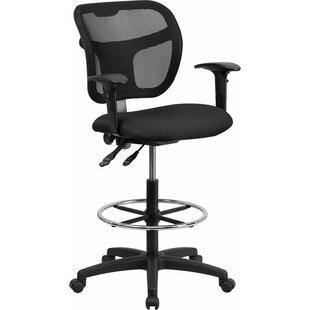 Krull Mid-Back Mesh Drafting Chair
