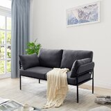 Patin 59 Flared Arm Loveseat by 17 Stories